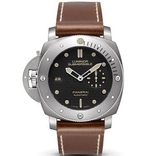 panerai 沛纳海 LUMINOR SUBMERSIBLE 1950 LEFT-HANDED 3 DAYS AUTOMATIC TITANIO Pam00569 - Noob完美版